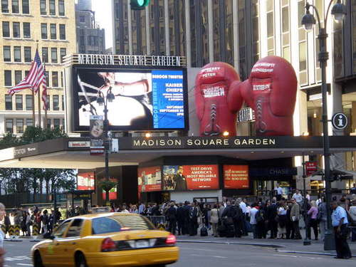 Madison Square Garden, just oposite our hotel